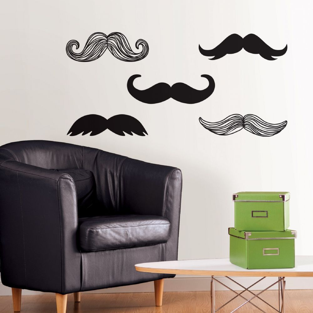 Mustache Wall Art Sticker Kit (4)